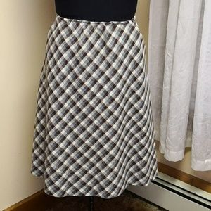 Vintage 1970s checkered a-line skirt
